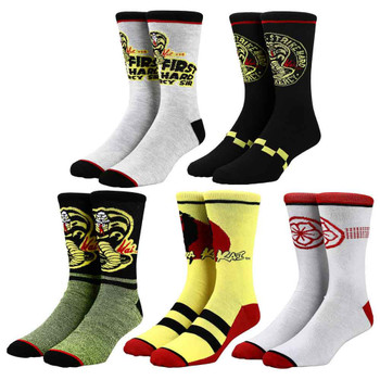 Cobra Kai 5 Pack Of Crew Socks