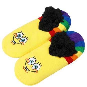 Spongebob Rainbow Slipper Socks