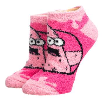 Spongebob Patrick Fuzzy Chenille Ankle Socks