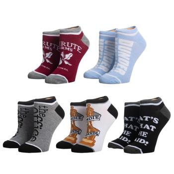 The Office 5 Pair Ankle Pair Socks