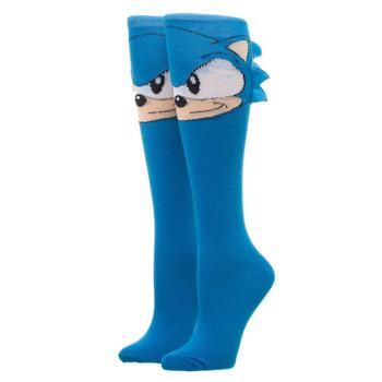 Sonic Novelty Knee High Socks
