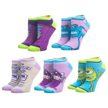 Disney Monsters Inc. 5 Pair Ankle Socks
