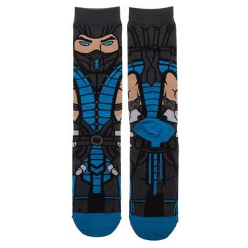 Mortal Kombat Sub Zero 360 Character Crew Socks