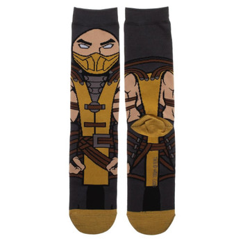 Mortal Kombat Scorpion 360 Character Crew Socks