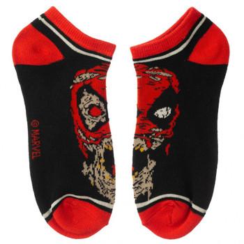 Marvel Zombie 5 Pair Ankle Socks