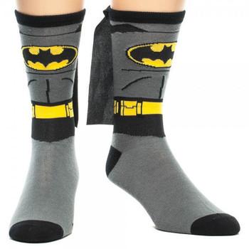 DC Comics Batman 'Suit Up' Crew Sock With Cape