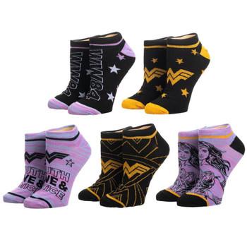 Wonder Woman 1984 5 Pair Ankle Socks