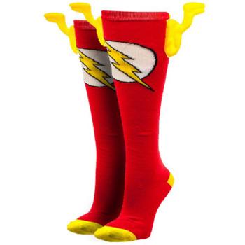 DC Comics Flash Knee High Socks With Wings