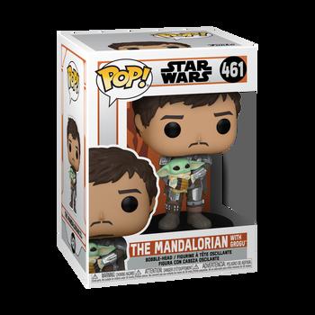 Funko Star Wars: The Mandalorian Mando Holding Child Pop! Vinyl Figure