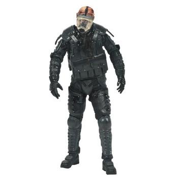 The Walking Dead TV Series 4 Riot Gear Gas Mask Zombie Figure