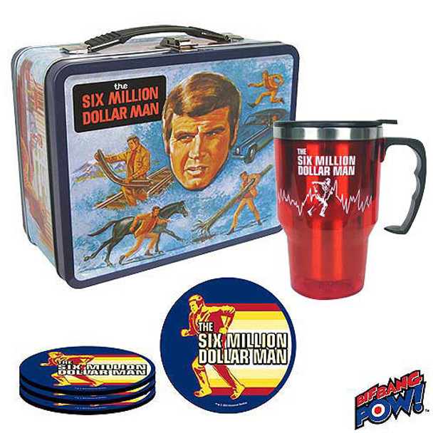 The Six Million Dollar Man Retro Tin Tote Gift Set - SDCC Convention Exclusive