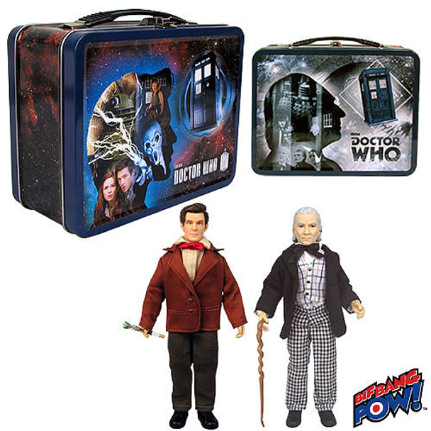 Doctor Who 1st & 11th Doctor 8-inch Action Figures in Tin Tote