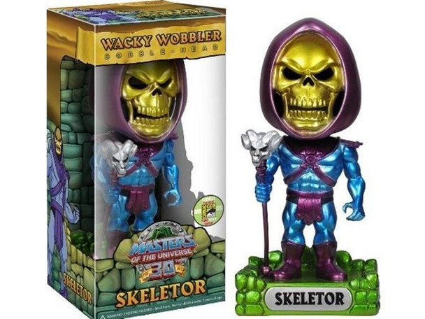 Masters of the Universe Skeletor Wacky Wobbler Metallic SDCC 2013 Exclusive