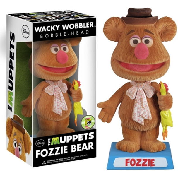 Muppets Wacky Wobbler - Fozzie Flocked SDCC 2013 Exclusive