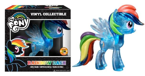 My Little Pony Rainbow Dash Vinyl Figure Clear Sparkle SDCC 2013 Exclusive