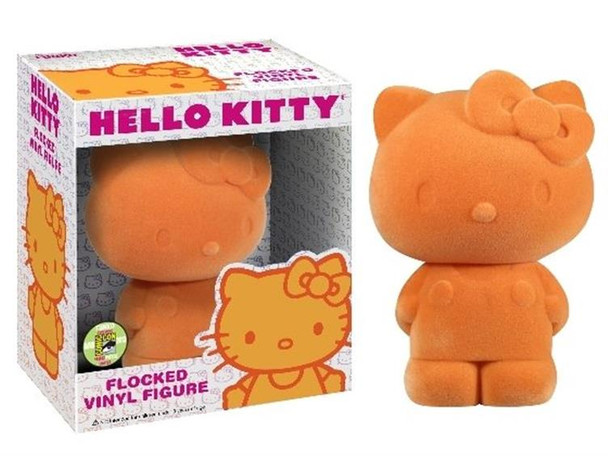 Hello Kitty Flocked Vinyl Figure SDCC 2013 Exclusive - Orange