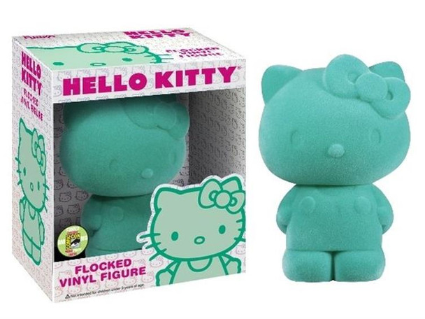 Hello Kitty Flocked Vinyl Figure SDCC 2013 Exclusive - Mint Green