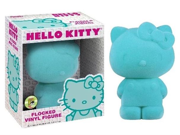 Hello Kitty Flocked Vinyl Figure SDCC 2013 Exclusive - Teal