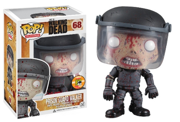 POP Television (VINYL): Walking Dead – Prison Guard Zombie Blood Spattered SDCC 2013 Exclusive