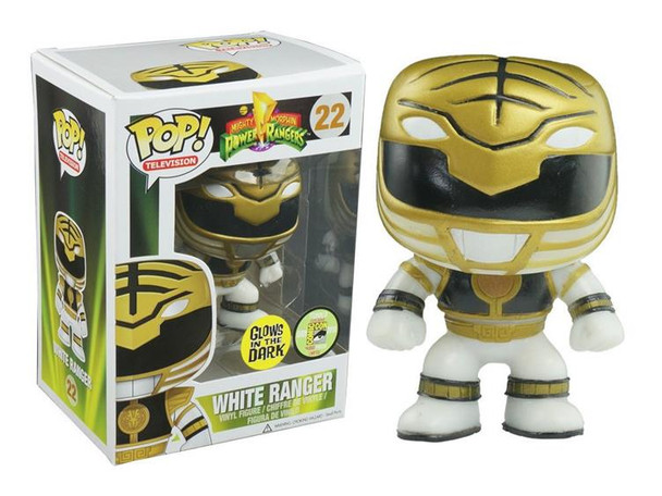Pop! Television: White Ranger Glow In The Dark SDCC 2013 Exclusive