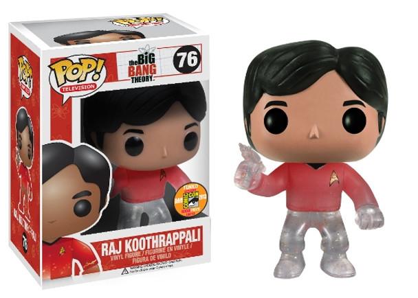 Pop! Television: Raj Star Trek SDCC 2013 Exclusive