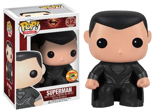 POP Heroes (VINYL): Superman - Man of Steel Movie Black SDCC 2013
