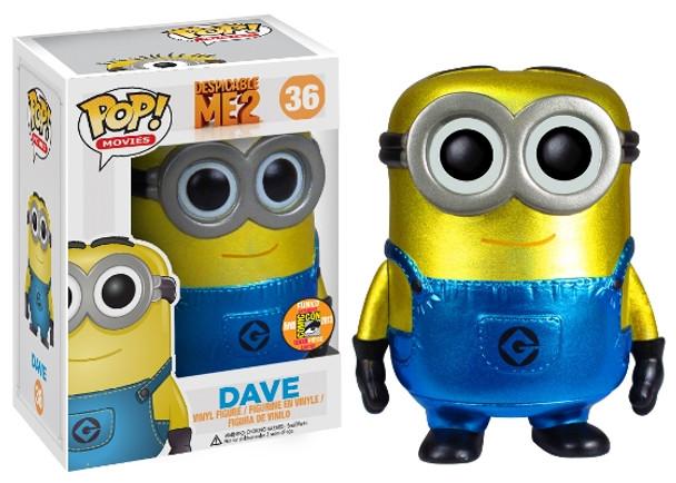 Pop! Movies: Despicable Me 2 Dave Metallic SDCC 2013 Exclusive