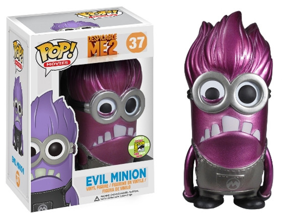Pop! Movies: Despicable Me 2 Evil Minion Metallic SDCC 2013 Exclusive