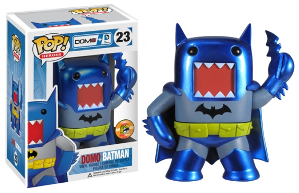 DC Domo POP Heroes! - Batman (Blue & Gray) Metallic SDCC 20103 Exclusive