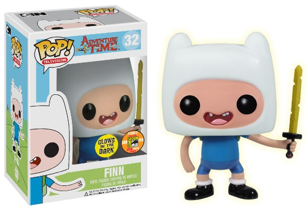 Pop! Television: Finn Glow In The Dark SDCC 2013 Exclusive
