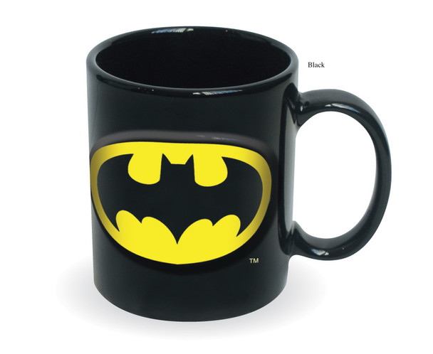 Batman Embossed Logo Black 20 oz. Ceramic Mug