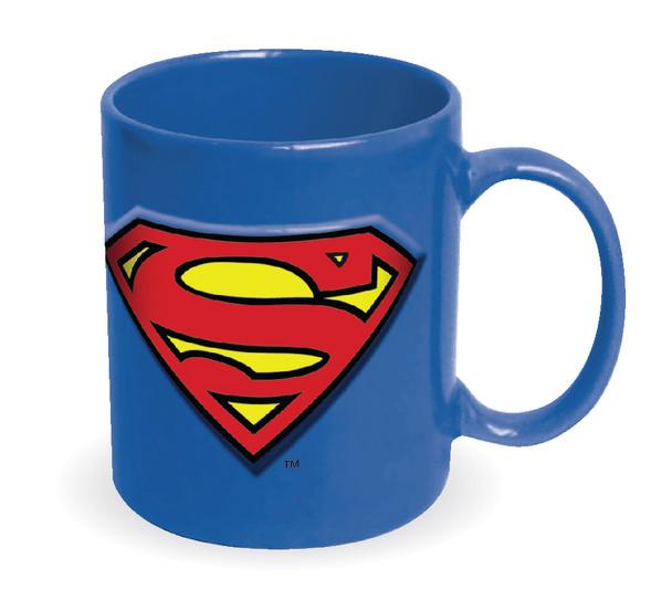 Superman Embossed Logo Blue 20 oz. Ceramic Mug