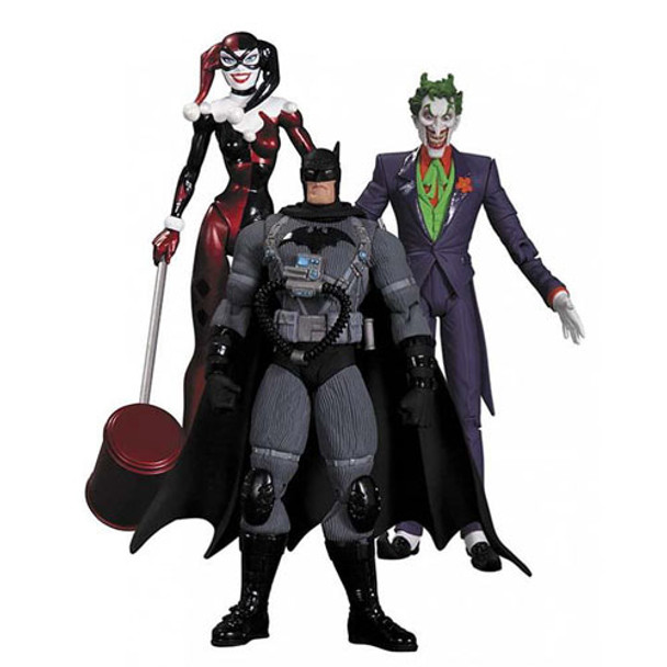 Batman Hush Joker, Harley Quinn and Stealth Batman Figure Set