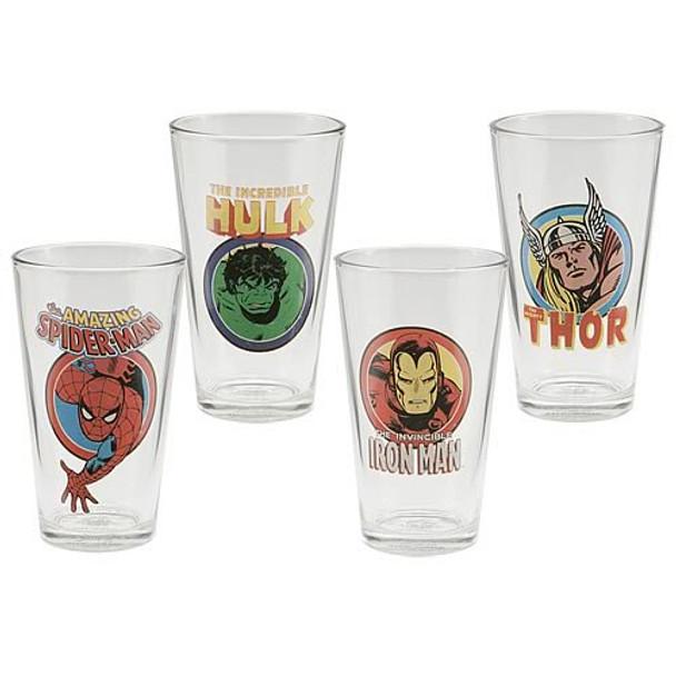 Marvel Comics Glasses 4-Pack