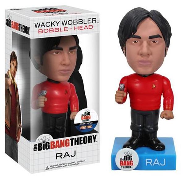 Star Trek Big Bang Theory Raj Bobble Head