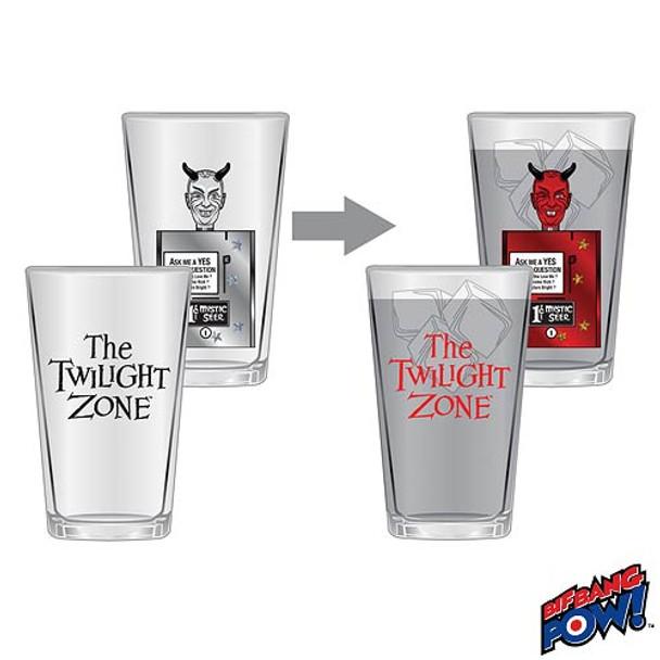 Twilight Zone Mystic Seer Color-Change 16 oz. Glass Set of 2