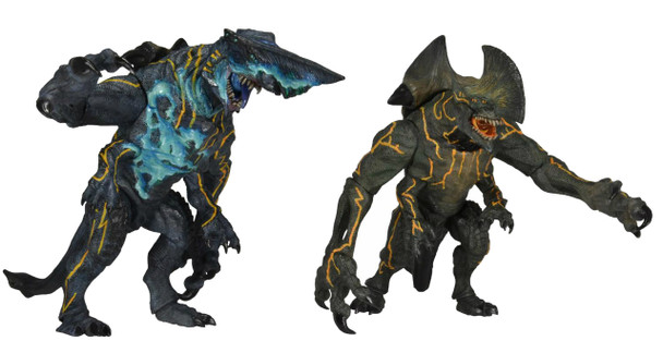 Pacific Rim 7-Inch Series 3 Kaiju Trespasser & Battle Damaged Knifehead Figures