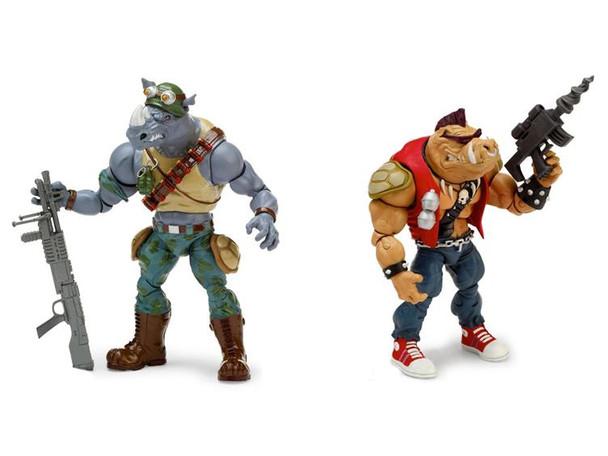 Teenage Mutant Ninja Turtles Classic Bebop and Rocksteady Figures