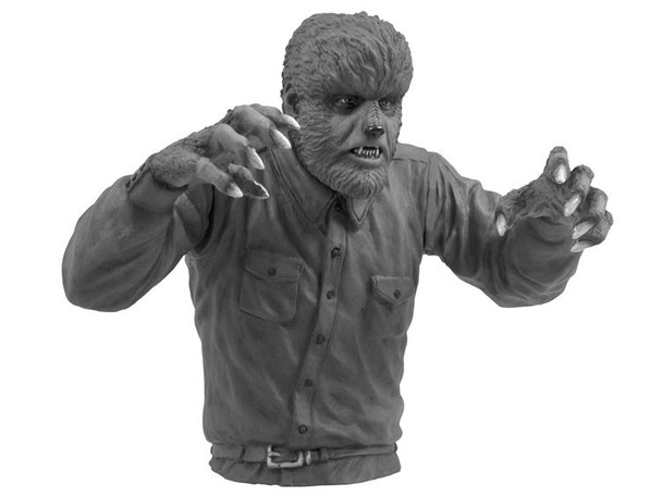 Universal Monsters Black and White Wolfman Bust Bank