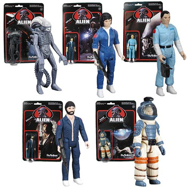 Alien 3 3/4-Inch ReAction Figures Set