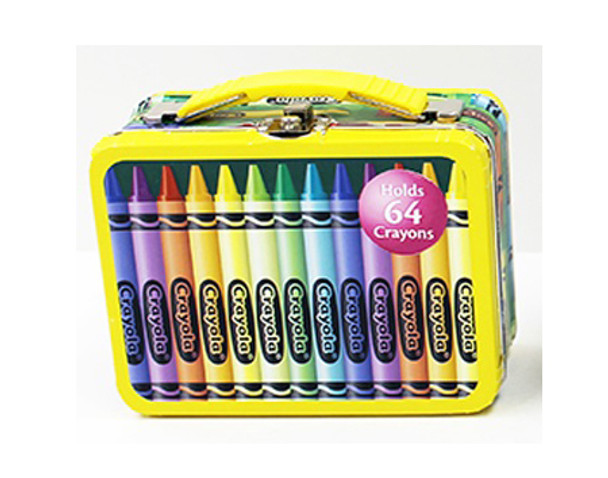 Crayola Small Carry All Tin - Yellow