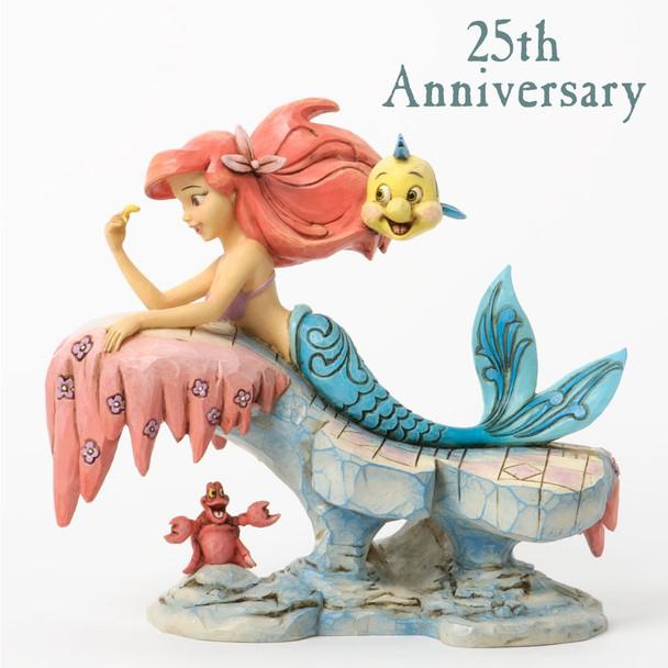 Disney Showcase Little Mermaid On Rock 25th Anniversary Figurine