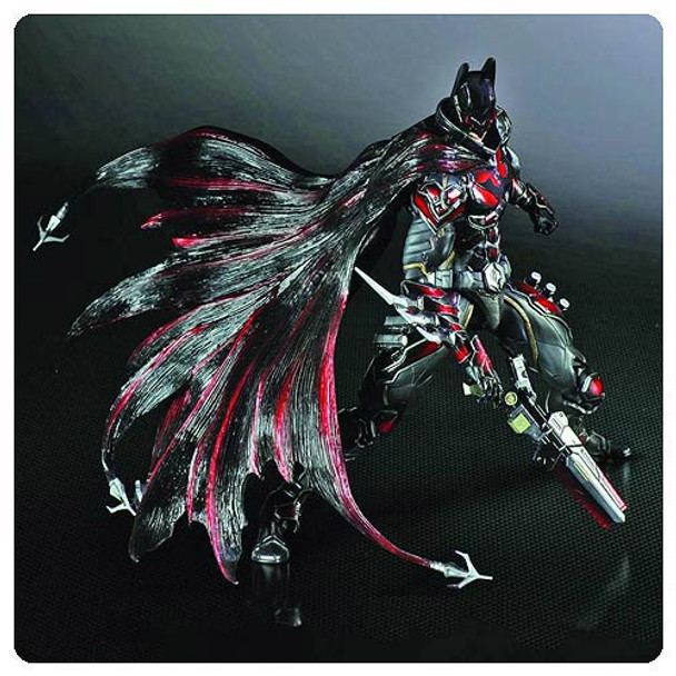 Red Variant Batman Play Arts Kai Action Figure - Previews Exclusive