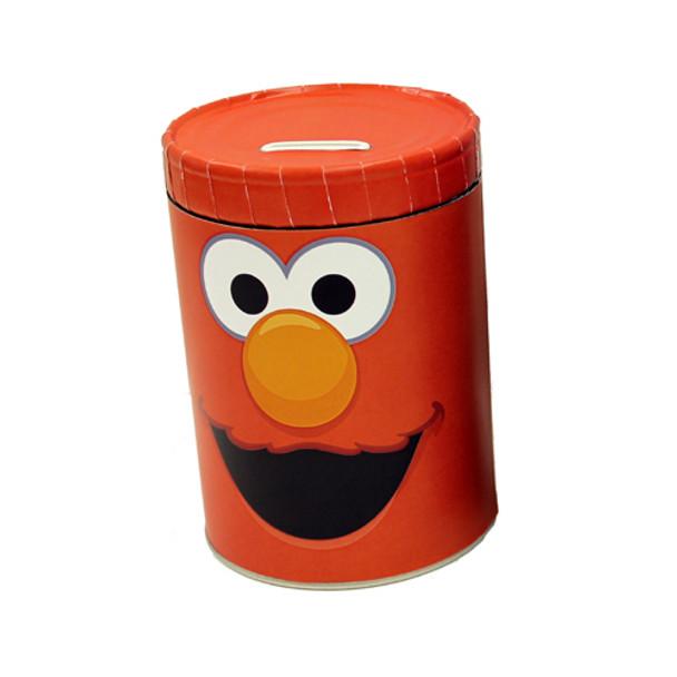 Sesame Street Elmo Round Tin Coin Can Bank