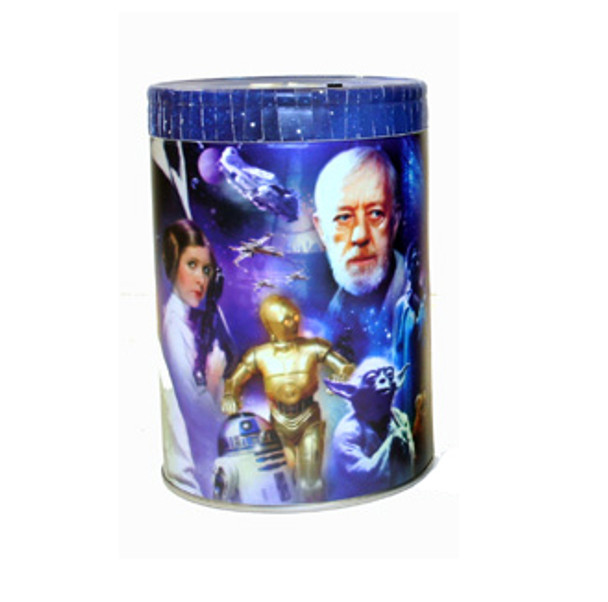 Star Wars Original Trilogy Round Tin Coin Can Bank