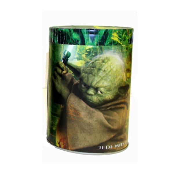 Star Wars Yoda Jedi Master Round Tin Coin Can Bank