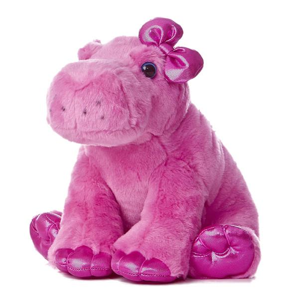 Girlz Nation Pink Hippo 10-Inch Plush