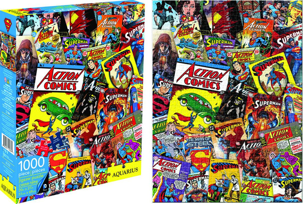 Superman DC Comics Collage 1,000-Piece Puzzle