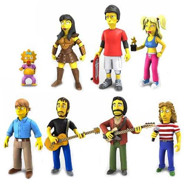Simpsons 5-Inch Celebrity Guest Action Figure Series 2 Set