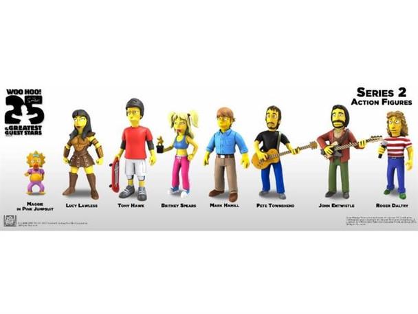 Simpsons 5-Inch Celebrity Guest Action Figure Series 2 Set